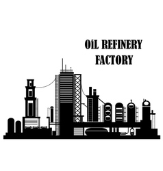 Oil refinery factory vector