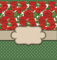 old school frame with roses and text place vector image