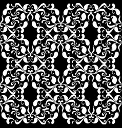 paisleys seamless pattern black floral vector image