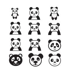 panda cartoon character icon dessign vector image