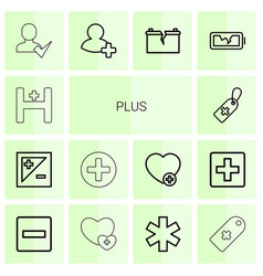 Plus icons vector