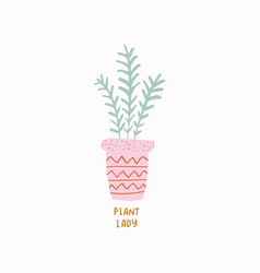 potted plant in crazy plant vector image