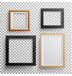 Realistic photo frame 3d set square a3 vector