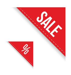 sale corner ribbon set vector image