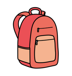 schoolbag education supply isolated icon vector image