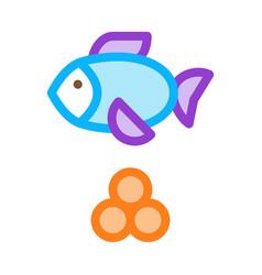 sea fish caviar icon outline vector image