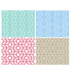 seamless chinese pattern in modern style vector image