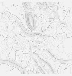 Seamless topographic map background line vector