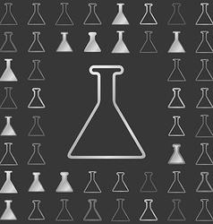Silver line chemistry icon design set vector