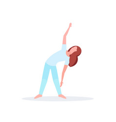 sporty woman doing stretching exercises girl vector image