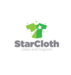 Star cloth for laundry logo designs simple modern vector