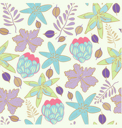 summer swatch floral repeat print pattern in vector image
