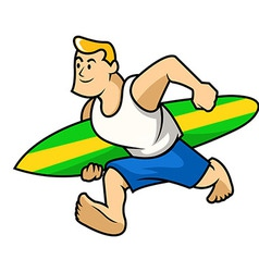 surfer boy vector image