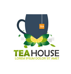 Tea house logo company tea logo logo vector