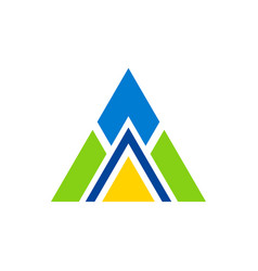 Triangle construction logo vector