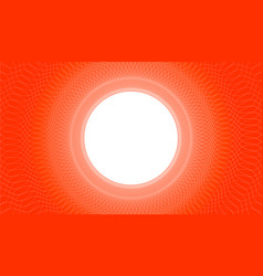wavy lines and white circle on a red background vector image