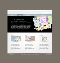 Website design template for building company vector