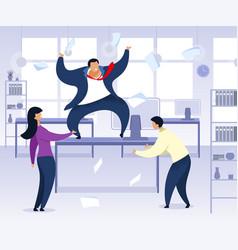 Work rush office chaos flat vector