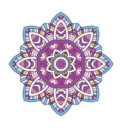 colored floral mandala vector image vector image