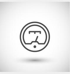 gauge line icon vector image vector image