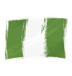 grunge Nigeria flag vector image