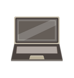 laptop computer isolated screen icon blank vector image vector image