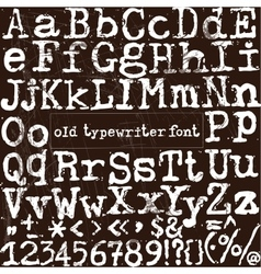 old typewriter font vector image vector image