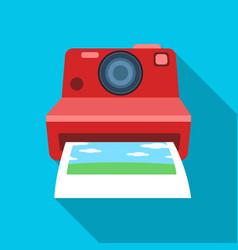retro photocamera icon in flat style isolated on vector image vector image