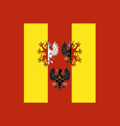 flag of lodz voivodeship in central poland vector image vector image