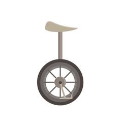 unicycle isolated bicycle wheel cycle one circus vector image