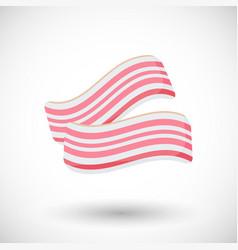 bacon flat icon vector image