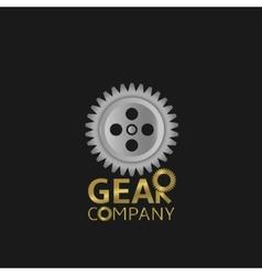 Gear logo vector image