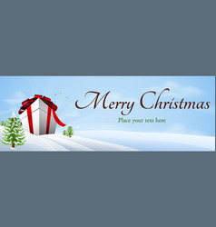 Giant christmas gift banner background vector