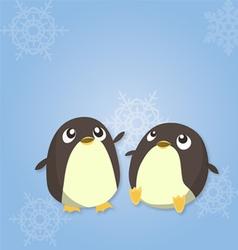 Penguin duo vector image vector image