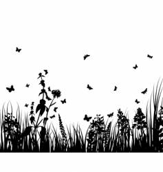plant silhouette vector image vector image