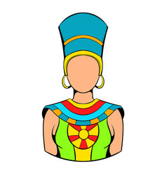 queen of egypt icon cartoon vector image vector image