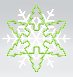 wire snowflake christmas background vector image vector image