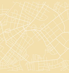yellow map vector image vector image