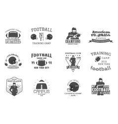 College rugby and american football team campus vector image