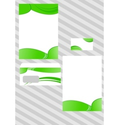 corporate ecological design template vector image