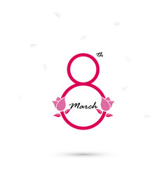 creative 8 march logo design with international vector image vector image