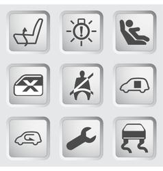 Dashboard icons set 5 vector image