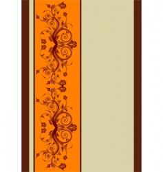 flower frame background vector image vector image