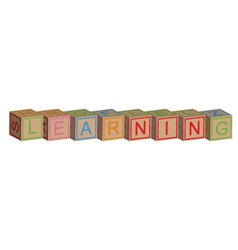 Learning with toy blocks vector image