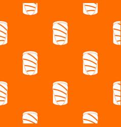 salmon pattern seamless vector image vector image