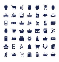 49 shopping icons vector