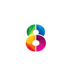 8 colorful letter logo icon design vector