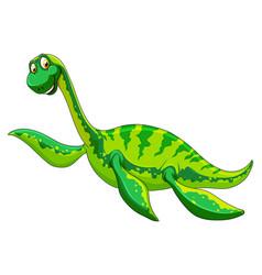 A elasmosaurus dinosaur cartoon character vector