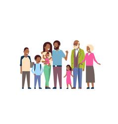 african grandparents parents children vector image