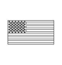American flag black color icon vector